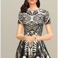 Black-Jacquard-Stretch-Flared-Mini-Dress-by-Rusty-2