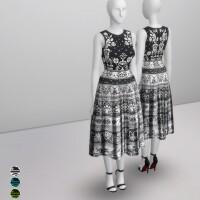 Black-Jacquard-Stretch-Midi-Dress-by-Rusty-1