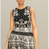 Black-Jacquard-Stretch-Midi-Dress-by-Rusty-2