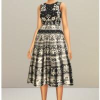 Black-Jacquard-Stretch-Midi-Dress-by-Rusty-3