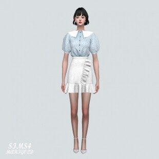Blouse-With-Frill-Mini-Skirt-2