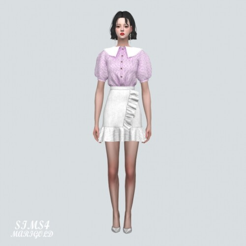 Blouse-With-Frill-Mini-Skirt