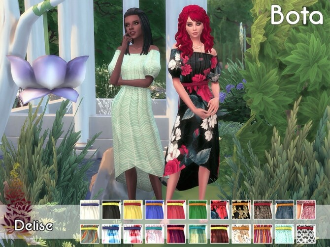 Bota dress 2 by Delise at TSR image Bota dress 2 by Delise 670x503 Sims 4 Updates
