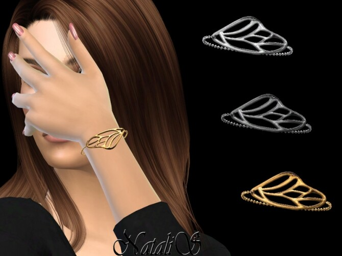 Sims 4 Butterfly wing bracelet by NataliS at TSR