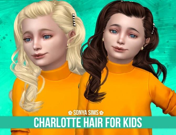 CHARLOTTE HAIR FOR KIDS at Sonya Sims image CHARLOTTE HAIR FOR KIDS by Sonya Sims 670x515 Sims 4 Updates