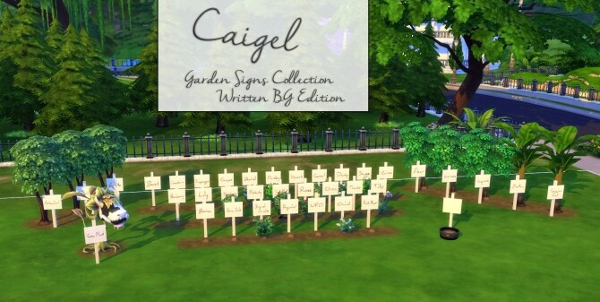 Caigel Garden Sign Collection at Mod The Sims image Caigel Garden Sign Collection 670x337 Sims 4 Updates