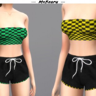 Checkered-Tube-Top-and-Drawstring-Shorts-by-MsBeary-2