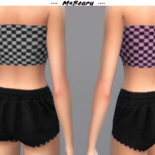 Checkered-Tube-Top-and-Drawstring-Shorts-by-MsBeary-3