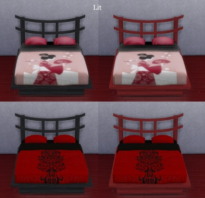 Cherry blossoms bedroom by Maman Gateau at Sims Artists image Cherry blossoms bedroom by Maman Gateau 2 670x648 Sims 4 Updates