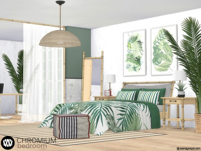 Chromium Bedroom by wondymoon at TSR image Chromium Bedroom by wondymoon 1 670x503 Sims 4 Updates