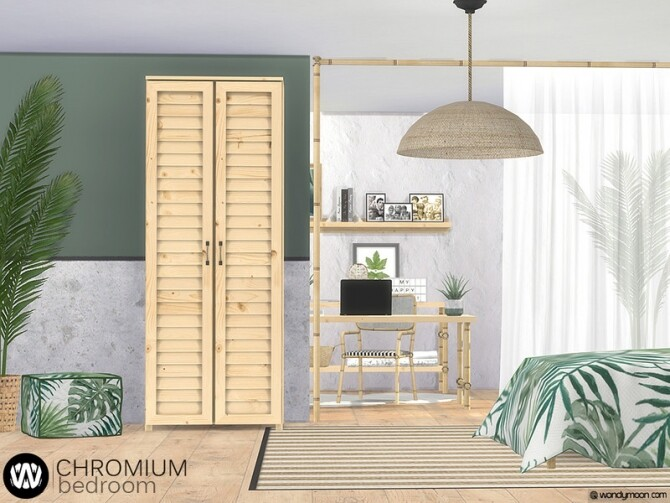 Chromium Bedroom by wondymoon at TSR image Chromium Bedroom by wondymoon 2 670x503 Sims 4 Updates