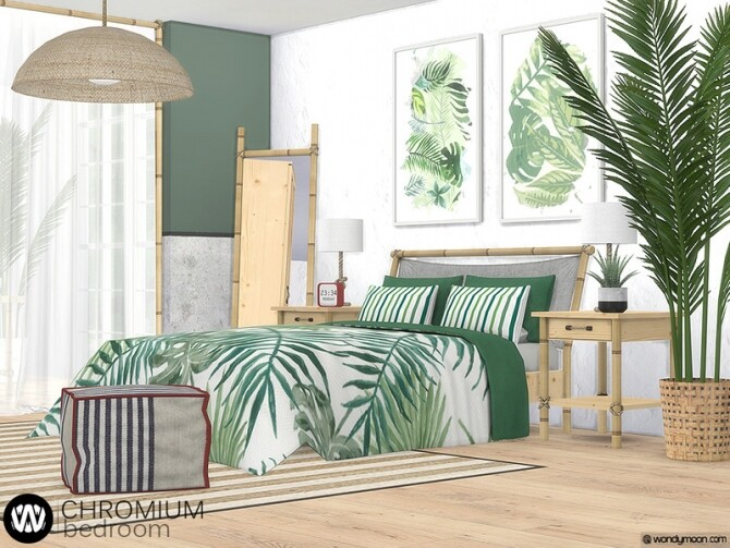 Chromium Bedroom by wondymoon at TSR image Chromium Bedroom by wondymoon 3 670x503 Sims 4 Updates