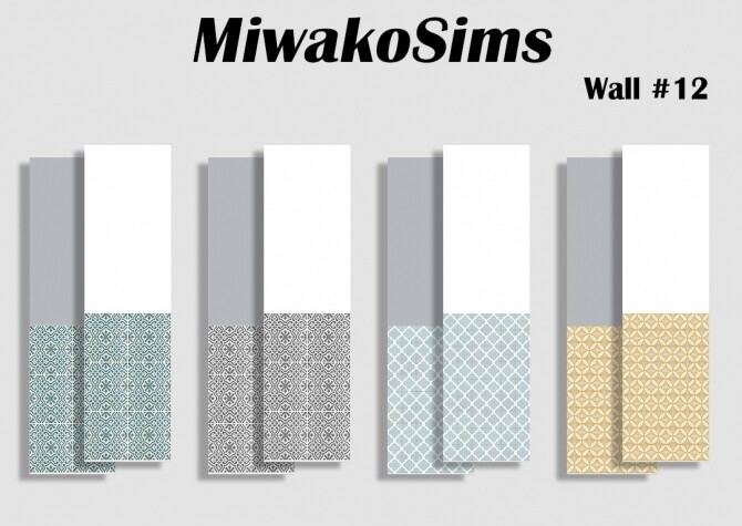 Collection-12-walls-by-MiwakoSims