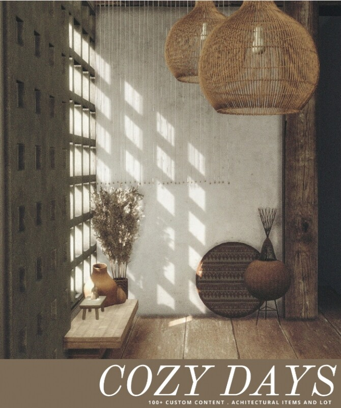 Sims 4 Cozy Days set (P) at AggressiveKitty