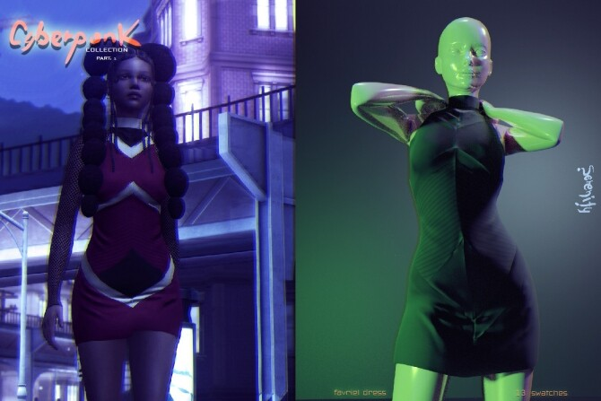 Sims 4 Cyberpunk Collection PART 1 at SERENITY