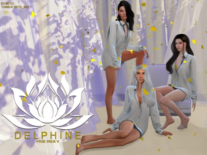 Sims 4 Delphine V Pose Pack by Beto ae0 at TSR