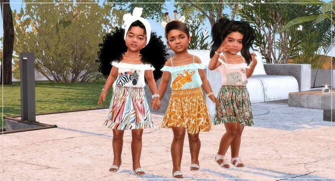 Designer Set for Toddler Girls TS4 at Sims4 Boutique image Designer Set for Toddler Girls TS4 2 670x362 Sims 4 Updates