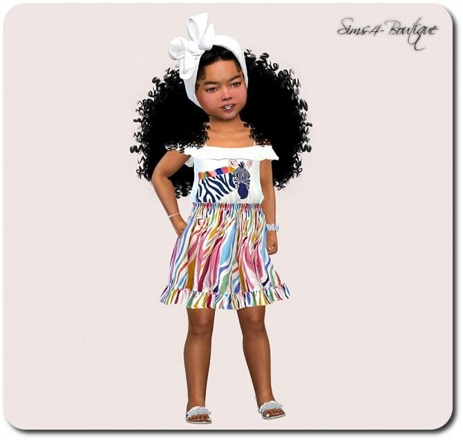 Designer Set for Toddler Girls TS4 at Sims4 Boutique image Designer Set for Toddler Girls TS4 3 670x637 Sims 4 Updates