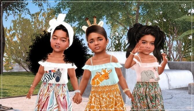 Designer Set for Toddler Girls TS4 at Sims4 Boutique image Designer Set for Toddler Girls TS4 4 670x385 Sims 4 Updates