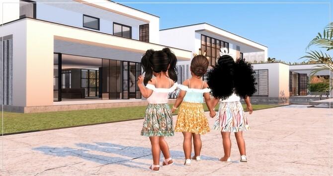 Designer Set for Toddler Girls TS4 at Sims4 Boutique image Designer Set for Toddler Girls TS4 5 670x355 Sims 4 Updates