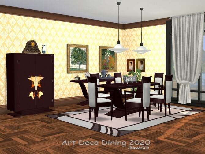 Dining Art Deco 2020 by ShinoKCR at TSR image Dining Art Deco 2020 by ShinoKCR 670x503 Sims 4 Updates