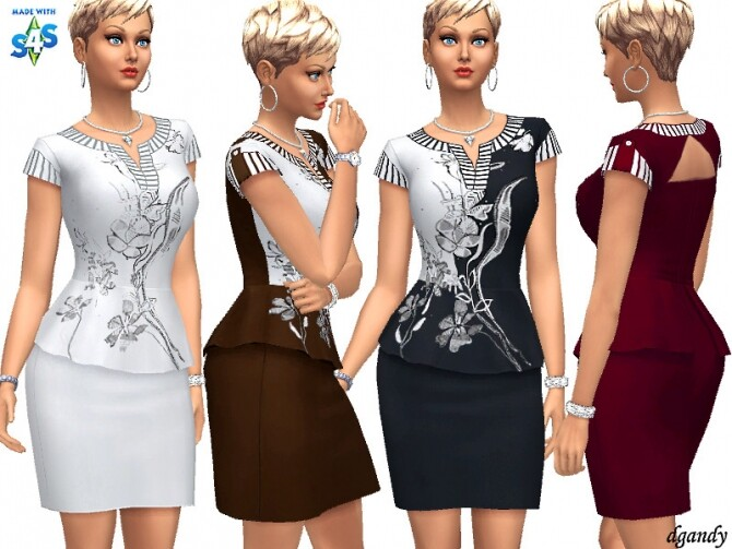 Sims 4 Dress 20200519 by dgandy at TSR