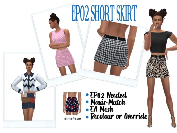 EP02 SHORT SKIRT at Sims4Sue image EP02 SHORT SKIRT 670x503 Sims 4 Updates