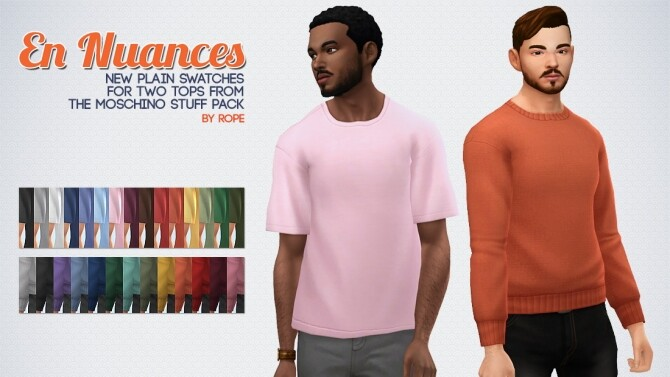 Sims 4 En Nuances t shirt & sweater by Rope at Simsontherope