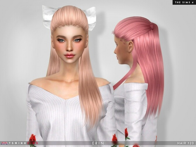 Sims 4 Erin Hair 120 by TsminhSims at TSR