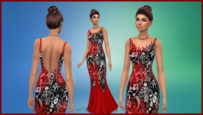 Sims 4 Evening dress by hippy70 at Mod The Sims