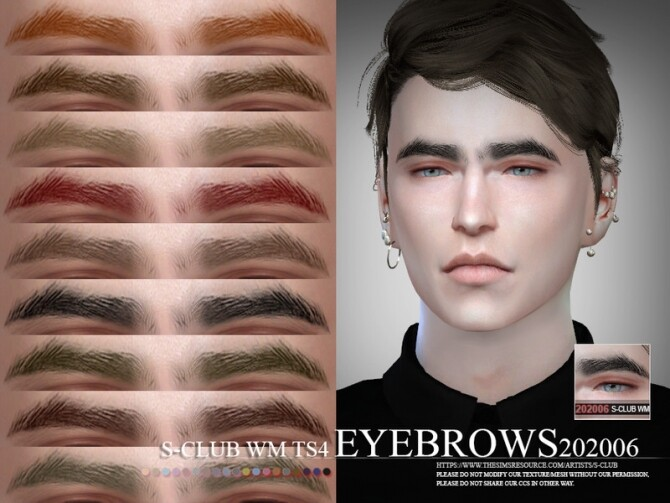 Sims 4 Eyebrows 202006 by S Club WM at TSR