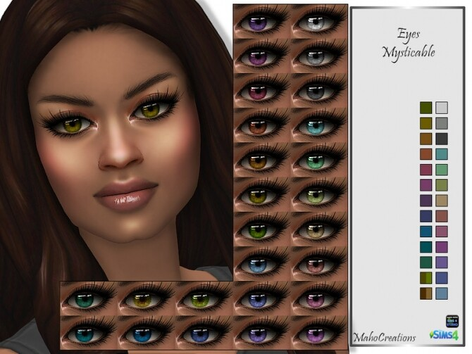 Sims 4 Eyes Mysticable by MahoCreations at TSR