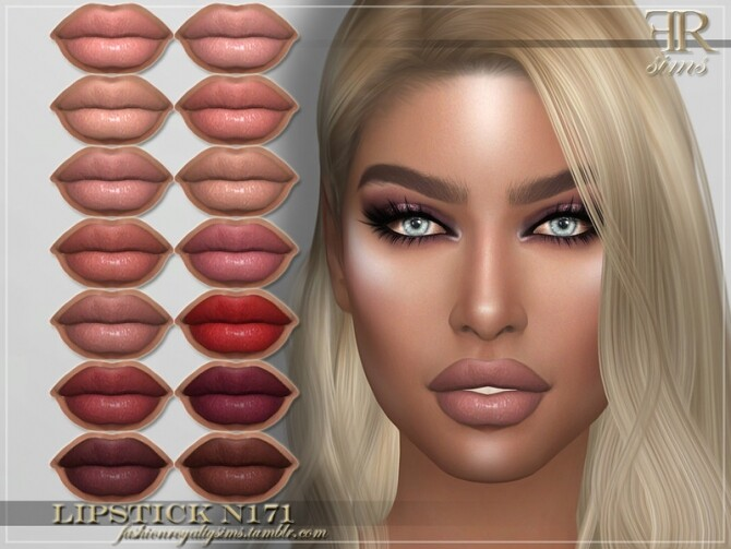 Sims 4 FRS Lipstick N171 by FashionRoyaltySims at TSR