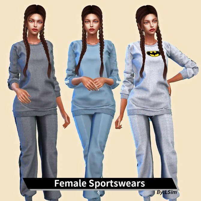 Female Sportswears at L.Sim image Female Sportswears by LSim 670x670 Sims 4 Updates
