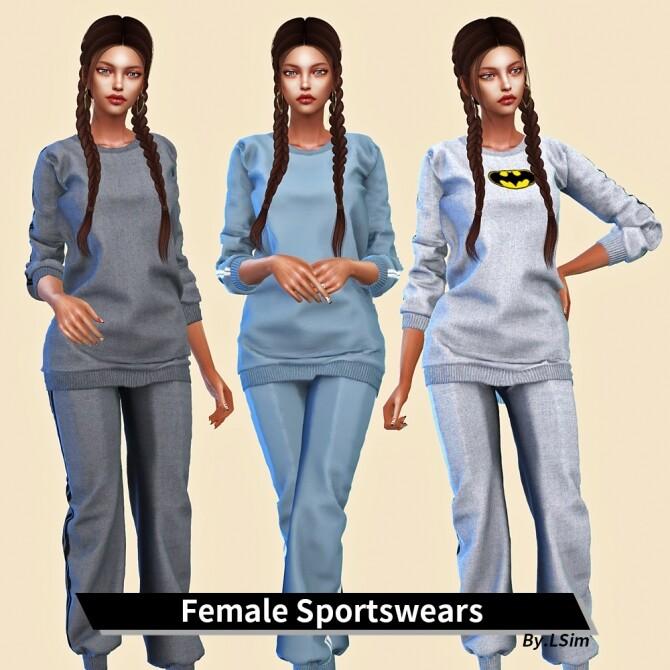 Sims 4 Female Sportswears at L.Sim