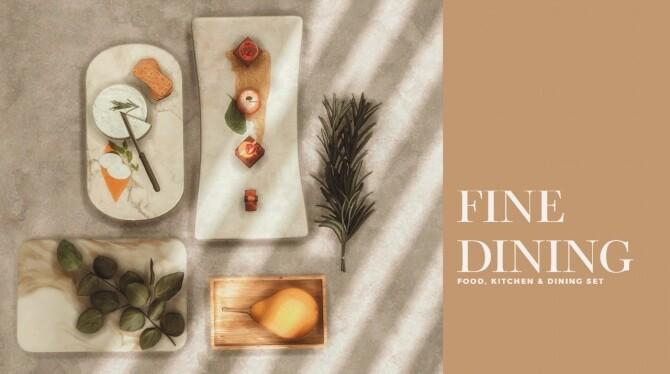 Sims 4 Fine dining set (P) at AggressiveKitty