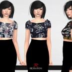 Flower-Blouse-for-Women-01-by-remaron-1