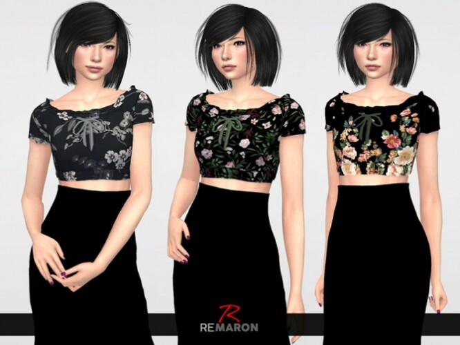 Flower-Blouse-for-Women-01-by-remaron-2