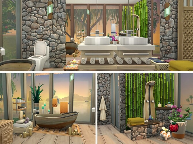 Gina house noCC by melapples at TSR image Gina house bathroom by melapples 670x503 Sims 4 Updates