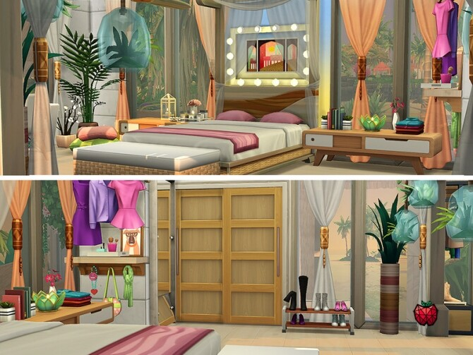 Gina house noCC by melapples at TSR image Gina house bedroom by melapples 670x503 Sims 4 Updates