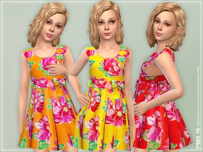 Sims 4 Girls Dresses Collection P141 by lillka at TSR