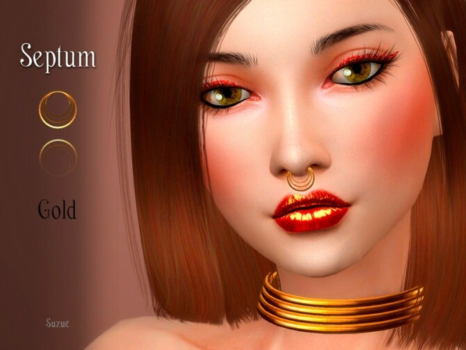 Gold Septum by Suzue at TSR image Gold Septum by Suzue 670x503 Sims 4 Updates