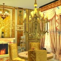 Golden-Candelabre-and-Big-Ceiling-Lamp-3