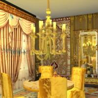 Golden-Candelabre-and-Big-Ceiling-Lamp-4