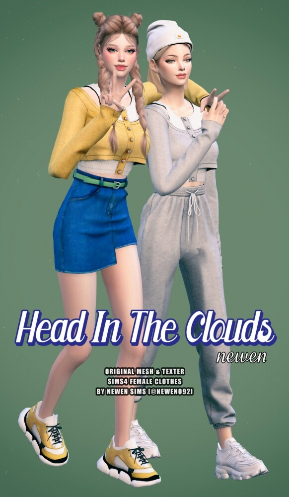Head In The Clouds Set at NEWEN image Head In The Clouds Set by Newen 4 582x1000 Sims 4 Updates