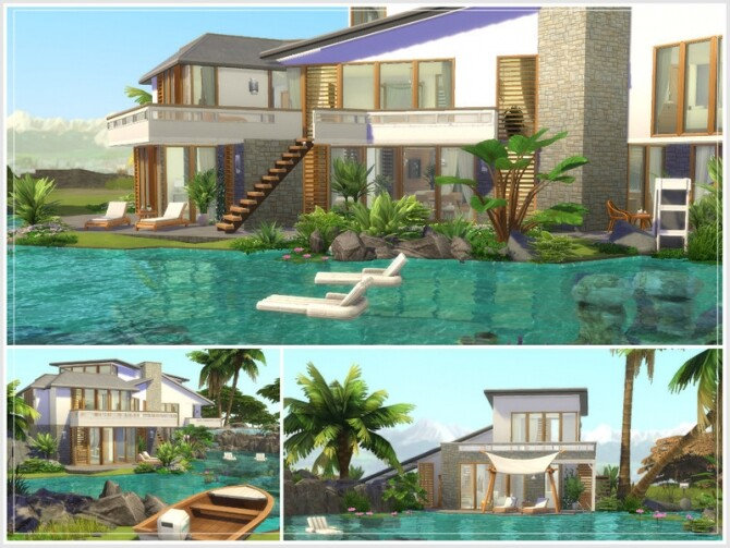 Justins Oase house by philo at TSR image Justins Oase house by philo 2 670x503 Sims 4 Updates