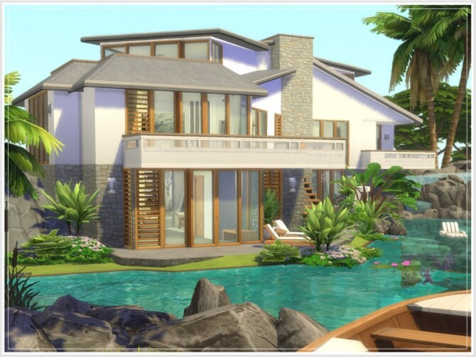 Justins Oase house by philo at TSR image Justins Oase house by philo 3 670x503 Sims 4 Updates