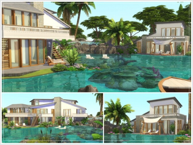 Sims 4 Justins Oase house by philo at TSR
