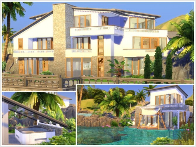 Justins Oase house by philo at TSR image Justins Oase house by philo 5 670x503 Sims 4 Updates