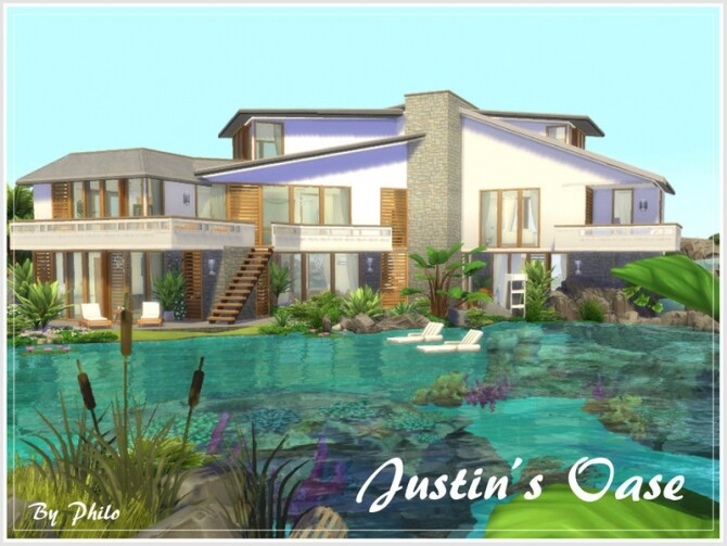 Justins Oase house by philo at TSR image Justins Oase house by philo 670x503 Sims 4 Updates